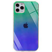 """Стильный чехол Gradient Rainbow с лого для Apple iPhone 11 Pro Max (6.5"""") Зеленый"""