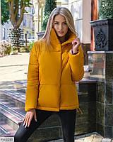 Молодіжна тепла демісезонна куртка жіноча осінь-зима з коміром стійкою під горло р-ри 42-46 арт. 1399