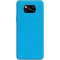 Силіконовий чохол Candy для Xiaomi Poco X3 NFC Блакитний