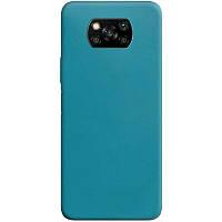 Силіконовий чохол Candy для Xiaomi Poco X3 NFC Синій / Powder Blue