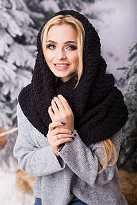 Зимовий в'язаний хомут/снуд/шарф Licato, чорний