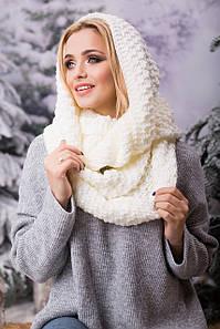 Зимовий в'язаний хомут/снуд/шарф Licato, молочний