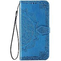 Кожаный чехол (книжка) Art Case с визитницей для Xiaomi Poco M3 Синий