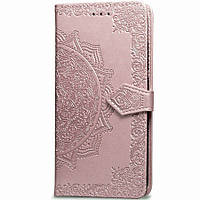 Шкіряний чохол (книжка) Art Case з візитницею для Samsung Galaxy M30s / M21 Рожевий
