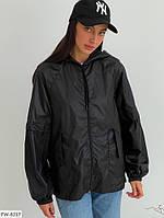 Куртка вітровка жіноча осіння плащівка стильна молодіжна вільного крою оверсайз р-ри 42-46 арт. 111