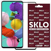 Защитное стекло SKLO 3D (full glue) для Samsung Galaxy A51 / M31s