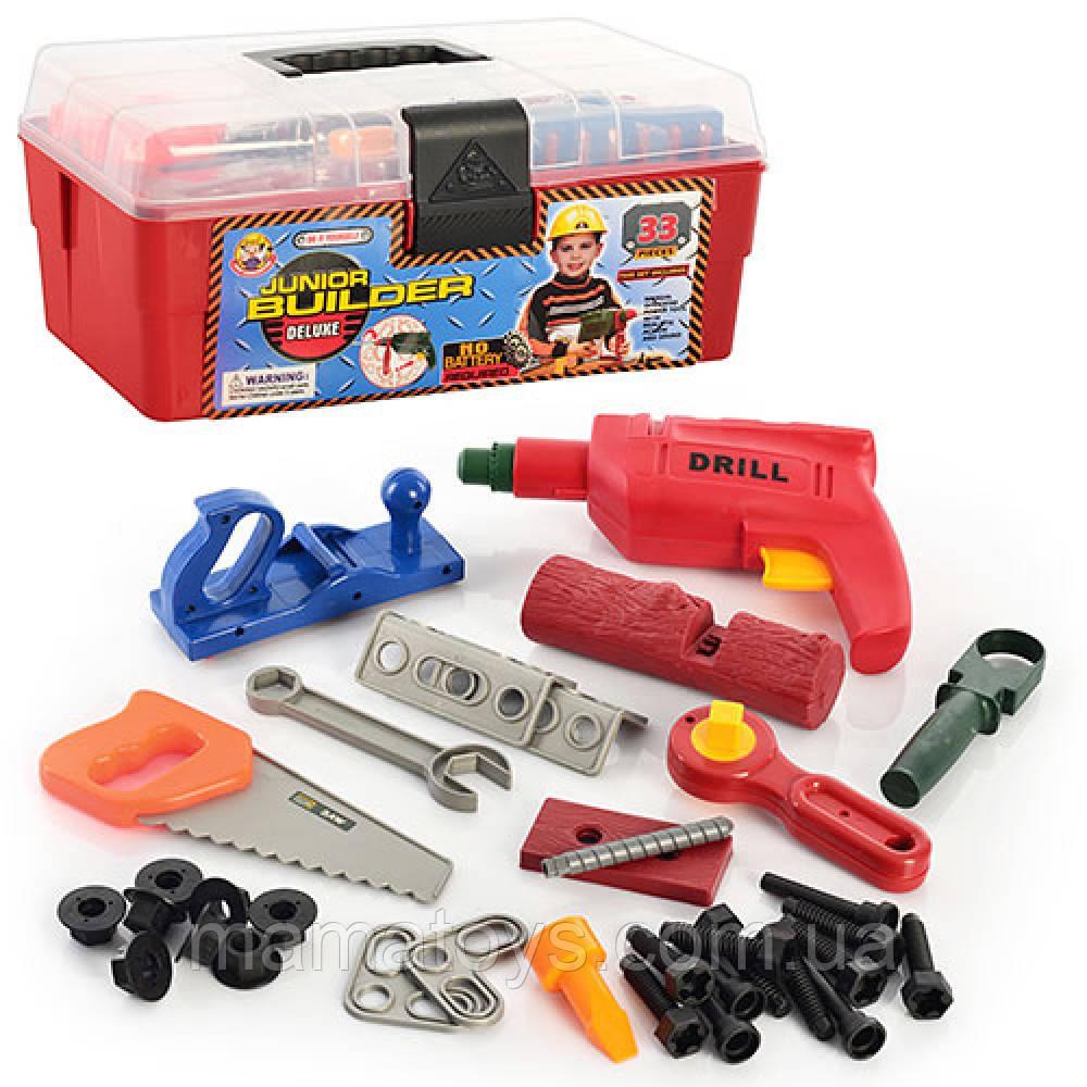 Игрушечный набор инструментов 2059 в чемодане 33 детали