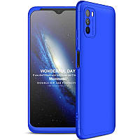 Пластиковая накладка GKK LikGus 360 градусов (opp) для Xiaomi Poco M3 Синий