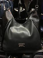 Черная женская сумка из качественной экокожи