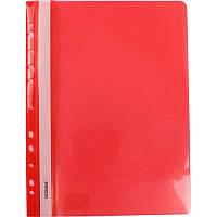 Папка швидкозшивач А4 120/160 мкм глянцева, з перфорацією Norma червона