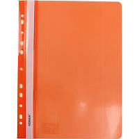 Папка швидкозшивач А4 120/160 мкм глянцева, з перфорацією Norma помаранчева