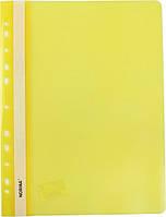 Папка швидкозшивач А4 120/160 мкм глянцева, з перфорацією Norma жовта