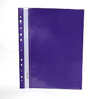 Папка швидкозшивач А4 120/160 мкм глянцева, з перфорацією Norma фіолетова
