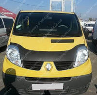 Дефлектор капота Рено Трафик (мухобойка на капот Renault Trafic до краев капота)