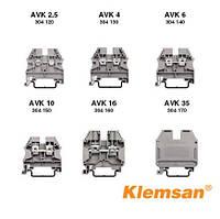 Клема-роз'єднувач гвинтова 2-х рядна AVK 4FS (бежева)