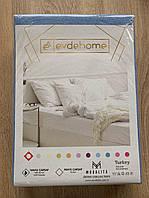 Простирадло махрова на резинці Evde Home 210х250 і дві наволочки 50х70 SKL11-332703