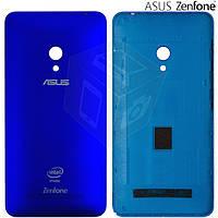 Задняя панель корпуса для Asus ZenFone 5 A501CG, синяя, оригинал