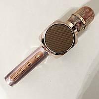 Бездротовий Bluetooth Мікрофон для Караоке Мікрофон DM Karaoke Y 63 + BT. Колір рожевий, фото 1