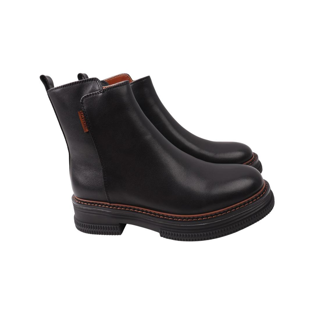 Ботинки женские Molka черные натуральная кожа