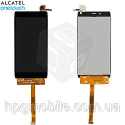Дисплейный модуль (дисплей + сенсор) для Alcatel One Touch 6032X Idol Alpha Slate, черный, оригинал
