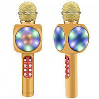 Безпровідний мікрофон караоке bluetooth WSTER WS-1816. Колір: золотий, фото 1