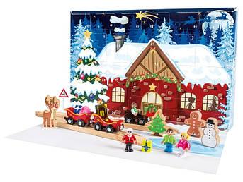 Новогодний календарь для деревянной железной дороги PlayTive 25 деталей Германия (Ikea Lillabo, Viga Toys, Bri