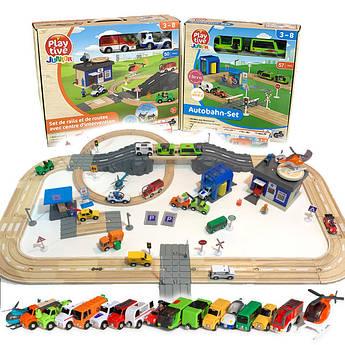 Набор деревянной железной дороги PlayTive Junior 122 эл. Германия