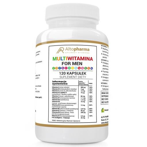 Витамины Altopharma мультивитамины для мужчин ADEK B C WEGE - 120 капс