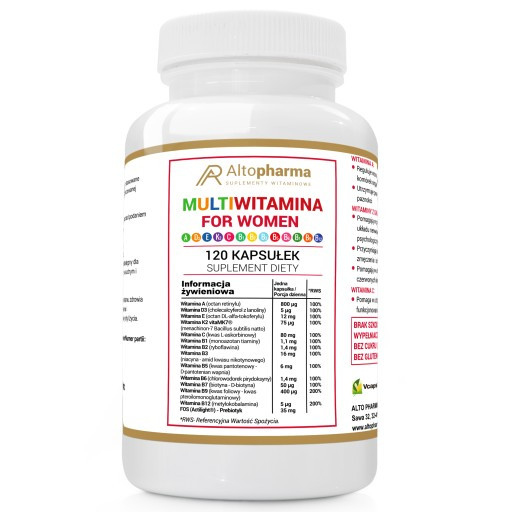 Витамины Altopharma мультивитамин для женщин + ADEK + VIT C WEGE - 120 капс