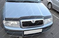 Дефлектор капота Шкода Октавия Тур (мухобойка на капот Skoda Octavia A4)