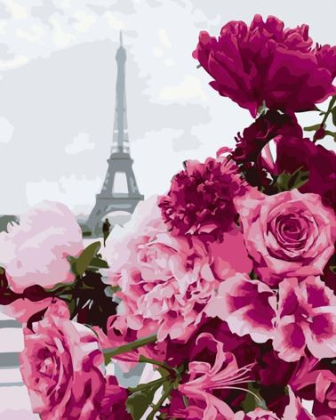 Картина по номерах Bookopt Вулицями Парижа 40х50 (ВК2161)