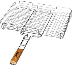 Решетка-гриль с высоким бортом А-Плюс BQ-1895 40x32x7.5 см