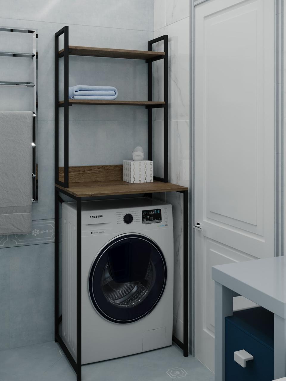 Полки в стиле лофт для стиральной машинки из ДСП VZ-50