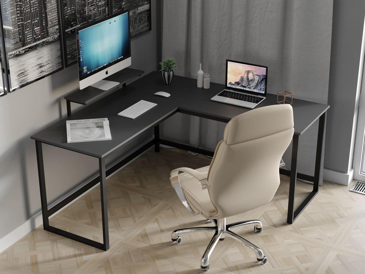Комп'ютерний стіл лофтовый кутовий з ДСП Код: VZ-53