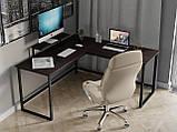 Комп'ютерний стіл лофтовый кутовий з ДСП Код: VZ-53, фото 4