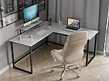 Комп'ютерний стіл лофтовый кутовий з ДСП Код: VZ-53, фото 6