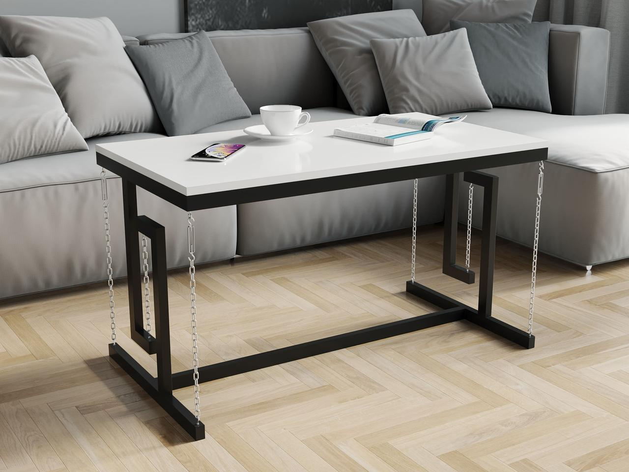 Журнальний столик в стилі лофт з ДСП. КОД: VZ-55