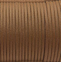 Шнур нейлоновый 4 мм (паракорд) коричневый (койот), 50 м