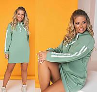 Спортивное платье с капюшоном и карманами «Lazio»| Батал (8380), фото 1