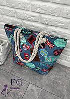 Пляжна Сумка текстильна «London» (3069), фото 1