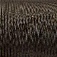 Шнур нейлоновый 4 мм (паракорд) коричневый темный, 50 м