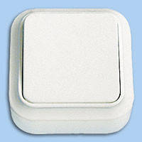 А16-131 Выключатель 1й наружный Пралеска Bylectrica белый