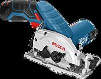 Пила ручная циркулярная Bosch GKS 10,8 V-LI аккумуляторная 06016A1000, фото 1