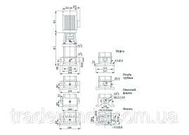 Вертикальный многоступенчатый центробежный электронасос CDLF 8-16 FSWSR, фото 2