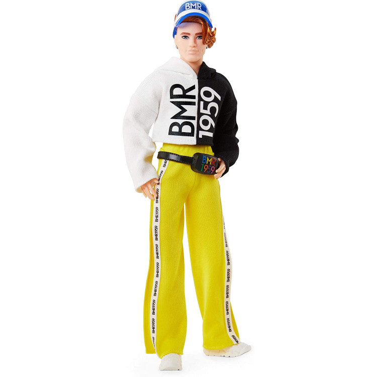 Лялька Кен Barbie Ken BMR1959 Fully Poseable Doll Red Hair with Freckles, Split Color Hoodie with Track Pants &