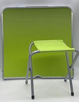 Стол для пикника с 4 стульями Folding Table (60х120 cм) зеленый (50шт)