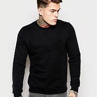 Черный мужской свитшот (толстовка - реглан)