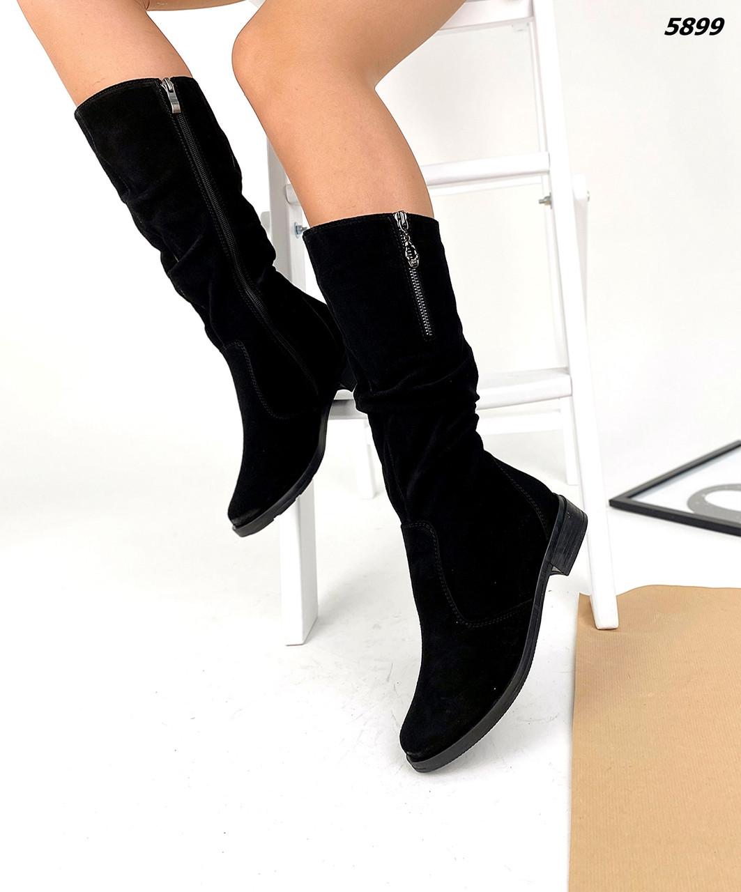 Жіночі замшеві зимові чобітки Bianco