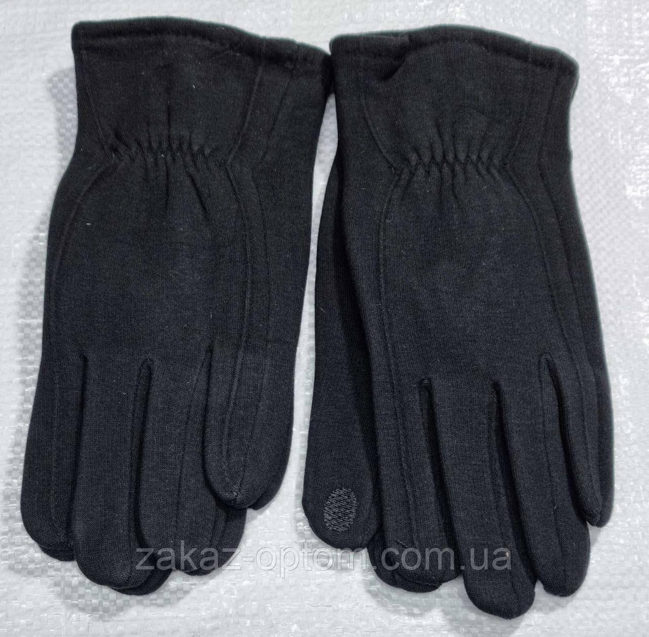Перчатки мужские сенсорные трикотаж +начес оптом Китай 01-82033