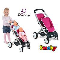 Оригинал. Коляска для кукол близнецов Maxi Cosi Quinny Smoby 521590